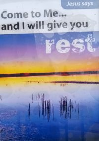 General - I will give you REST