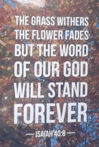 General-Word of God will last for ever